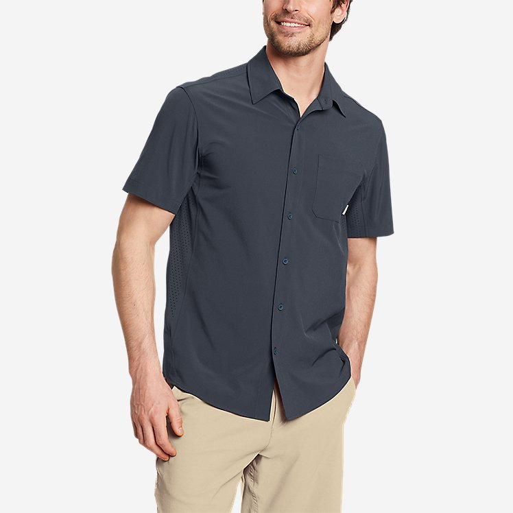 Men's Departure Perforated Short-Sleeve Shirt large version