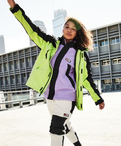 80s Windbreakers, Jackets, Coats | 90s Outerwear EBTek Fleece Full-Zip Mock $129.00 AT vintagedancer.com