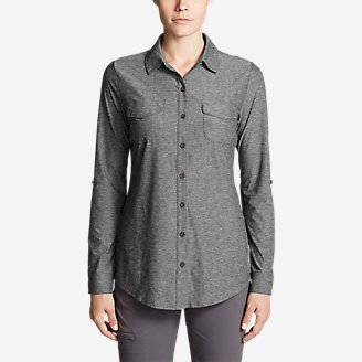 Thumbnail View 1 - Women's Infinity Long-Sleeve Button-Front Shirt