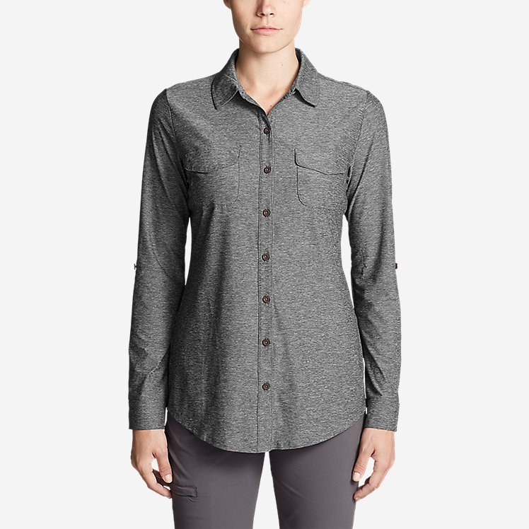 Women's Infinity Long-Sleeve Button-Front Shirt large version