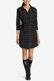 Women's Departure Shirt Dress - Plaid