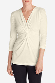 Women's Girl On The Go 3/4-Sleeve Twist Front Top