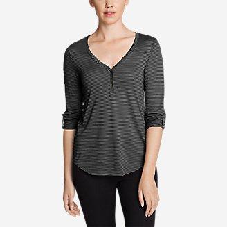 Thumbnail View 1 - Women's Mercer Knit Henley Shirt - Stripe