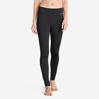Thumbnail View 1 - Women's Crossover Fleece Leggings - Solid