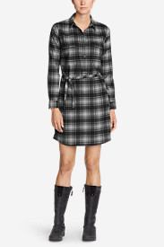 Women's Eddie Bauer Expedition Flex Performance Flannel Shirt Dress
