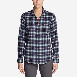 Thumbnail View 1 - Women's Eddie Bauer Expedition Flex Performance Flannel Shirt