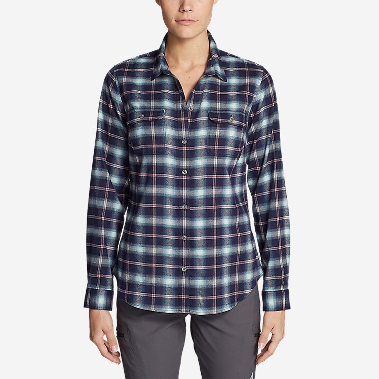 Women's Eddie Bauer Expedition Flex Performance Flannel Shirt large version