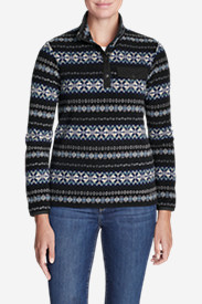 Women's Quest Fleece Snap-Neck Pullover - Printed