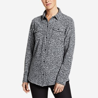 Thumbnail View 1 - Women's Chutes Fleece Shirt Jacket - Print