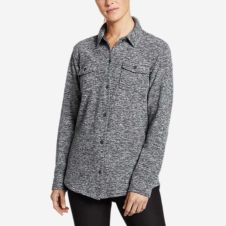 Women's Chutes Fleece Shirt Jacket - Print large version