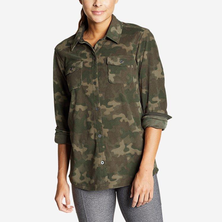 Women's Chutes Microfleece Shirt - Print large version