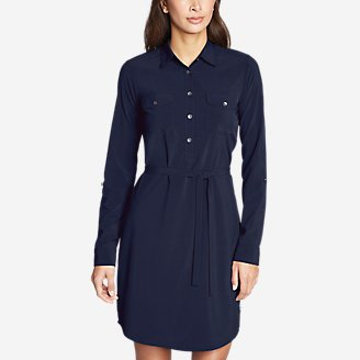 Thumbnail View 1 - Women's Departure Long-Sleeve Shirt Dress