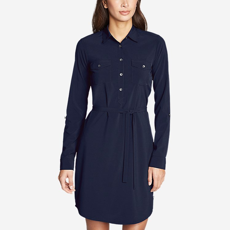 Women's Departure Long-Sleeve Shirt Dress large version