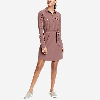 Thumbnail View 1 - Women's Departure Long-Sleeve Shirt Dress