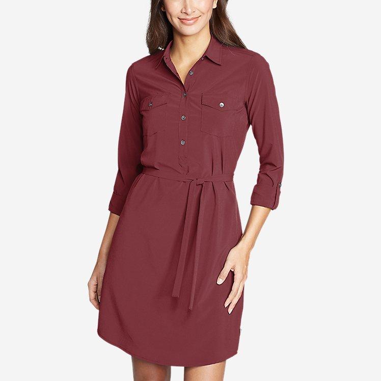 Women's Departure Long-Sleeve Shirt Dress large version