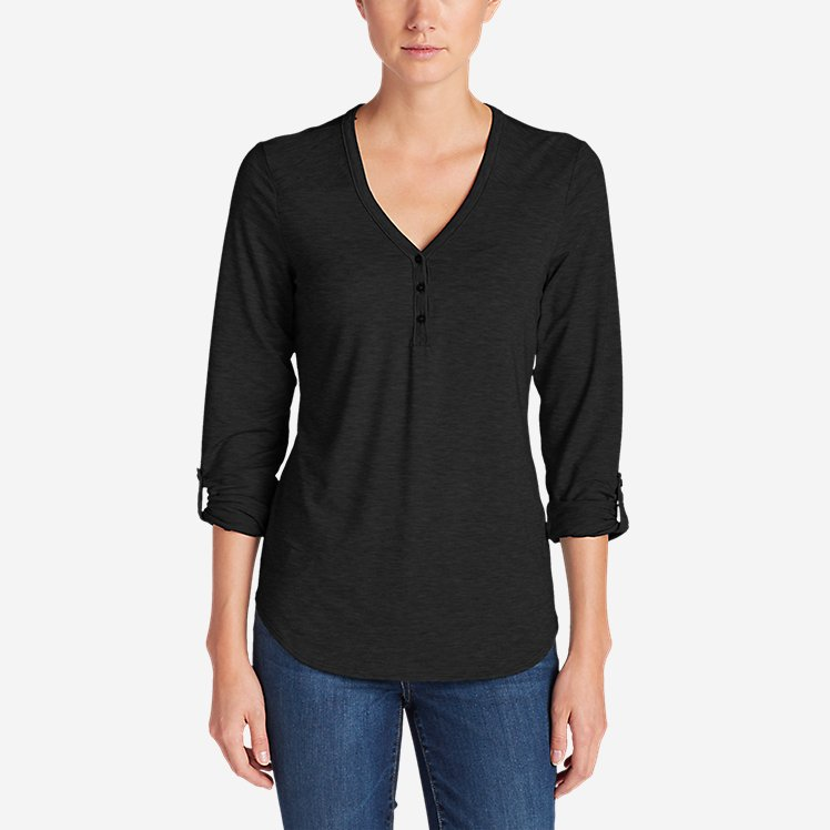 Women's Mercer Knit Henley Shirt large version
