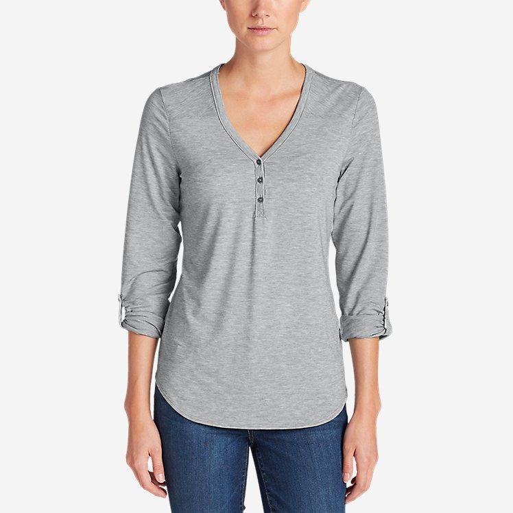 Women's Mercer Knit Henley Shirt large version