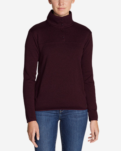 Women's Radiator Fleece Snap Mock Neck Pullover by Eddie Bauer