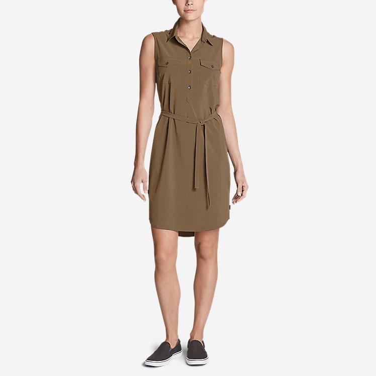 Women's Departure Sleeveless Shirt Dress large version
