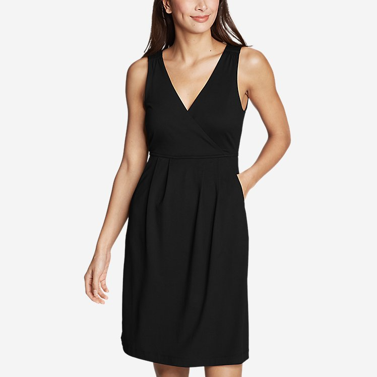 Women's Aster Crossover Dress - Solid large version