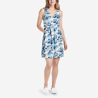 Thumbnail View 1 - Women's Aster Crossover Dress - Print