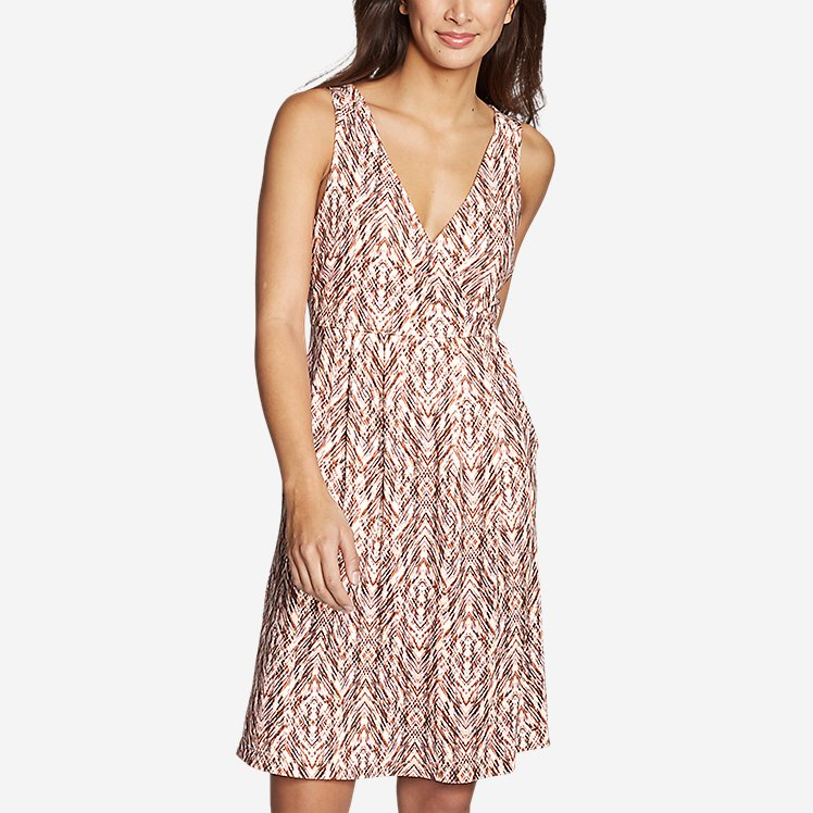 Women's Aster Crossover Dress - Print large version