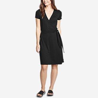 Thumbnail View 1 - Women's Aster Short-Sleeve Wrap Dress