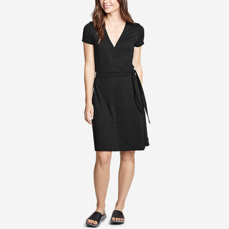 Women's Aster Short-Sleeve Wrap Dress large version