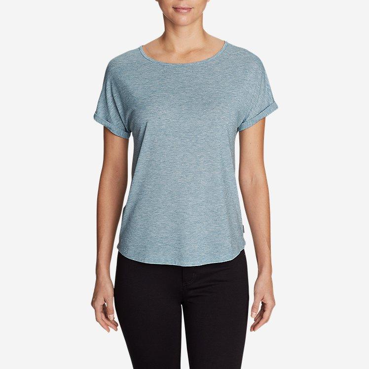 Women's Mercer Knit Roll-Sleeve Bateau T-Shirt - Solid large version