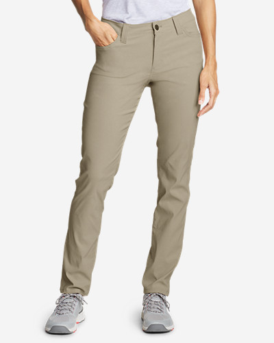 Eddie Bauer Women's Horizon Guide 5-Pocket Slim Straight Pants