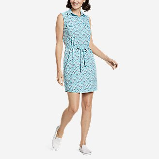 Thumbnail View 1 - Women's Departure Sleeveless Shirt Dress - Print