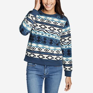 Thumbnail View 1 - Women's Quest Fleece Sweatshirt - Print