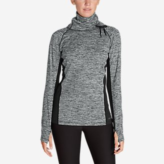 Thumbnail View 1 - Women's Crossover Fleece Funnel-Neck Pullover