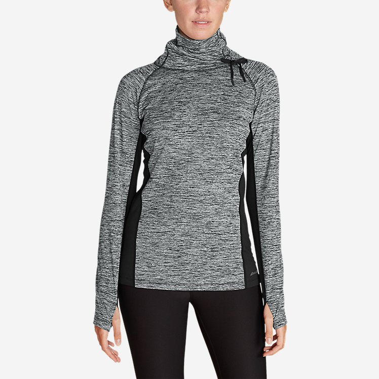 Women's Crossover Fleece Funnel-Neck Pullover large version
