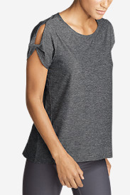 Women's Infinity Short-Sleeve Twist Sleeve Top