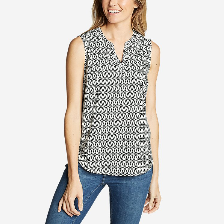 Women's Departure Sleeveless Top - Print large version