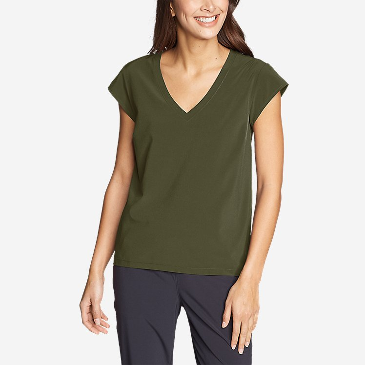 Women's Departure Short-Sleeve V-Neck T-Shirt large version