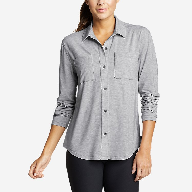 Women's Mercer Knit Easy Button-Down Shirt large version
