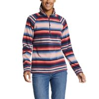 Deals on Eddie Bauer Womens Quest Fleece 1/4-Zip Printed Jacket
