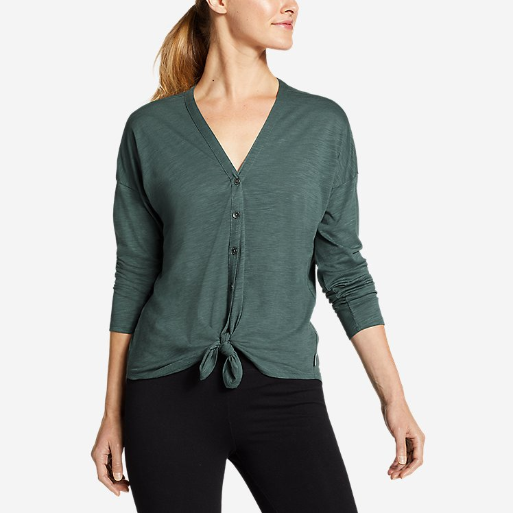 Women's Gate Check Long-Sleeve Convertible Top large version