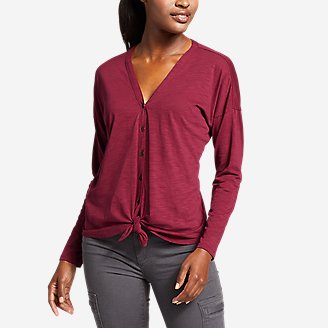Thumbnail View 1 - Women's Gate Check Long-Sleeve Convertible Top