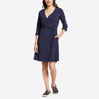 Thumbnail View 1 - Women's Departure Long-Sleeve Wrap Dress
