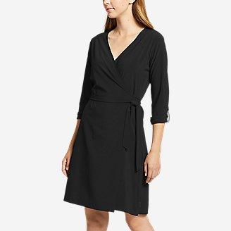 Thumbnail View 1 - Women's Departure Long-Sleeve Wrap Dress
