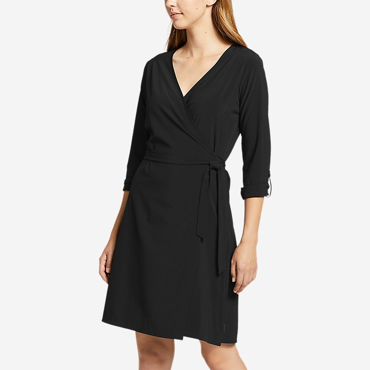Women's Departure Long-Sleeve Wrap Dress large version