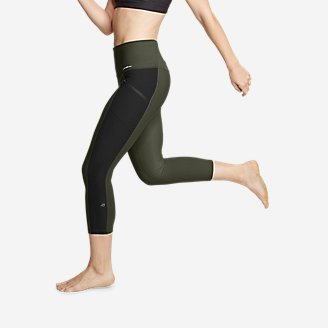 Trail Tight High Rise Capris   Colorblock by Eddie Bauer