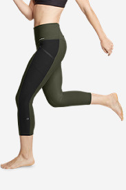 Women's Trail Tight High Rise Capris - Colorblock
