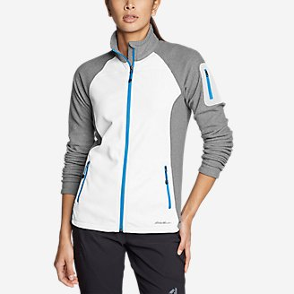 Thumbnail View 1 - Women's Cloud Layer Pro Fleece Full-Zip Jacket - Color-Blocked