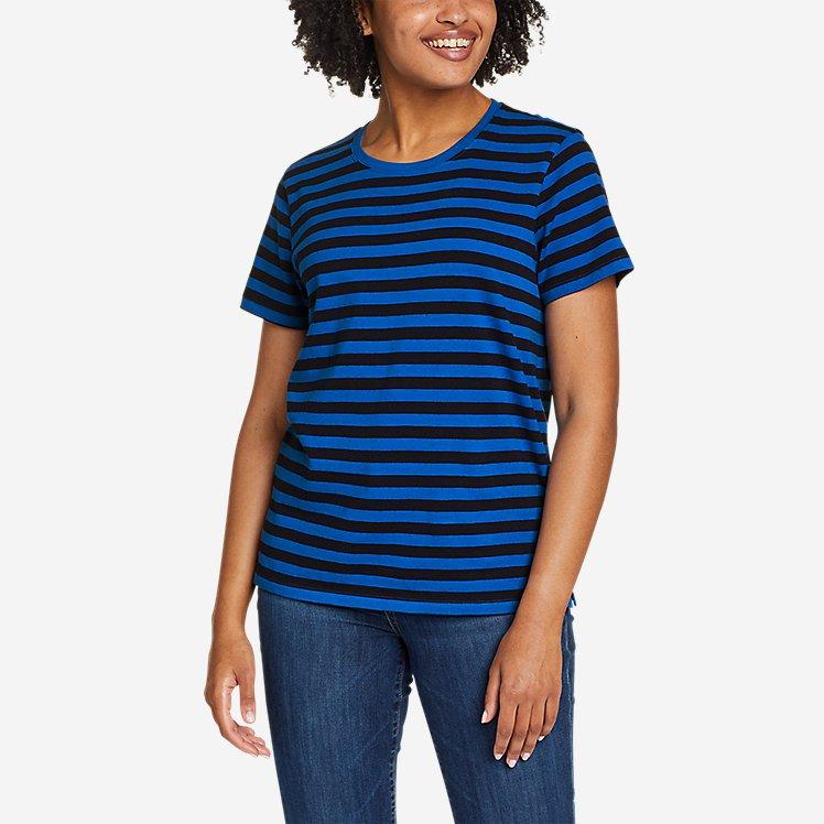 Women's Myriad Short-Sleeve Crew - Stripe large version