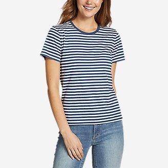 Thumbnail View 1 - Women's Myriad Short-Sleeve Crew - Stripe
