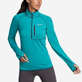 Thumbnail View 1 - Women's High Route Grid Fleece 1/4-Zip